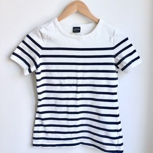 Jean Paul Gaultier summer navy/white striped tee